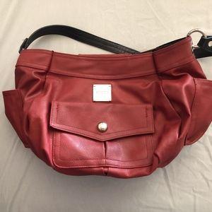 Miche red handbag with shoulder strap